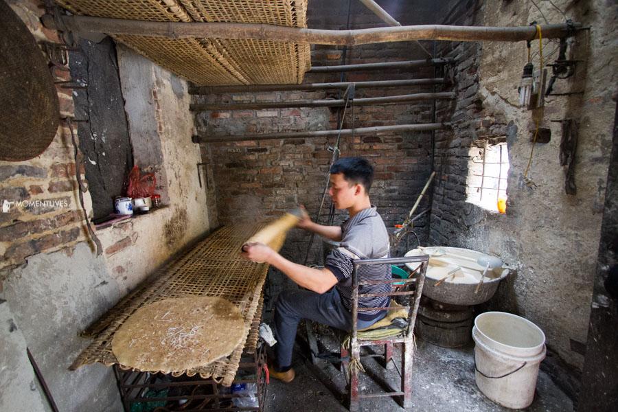 Making rice cracker at home