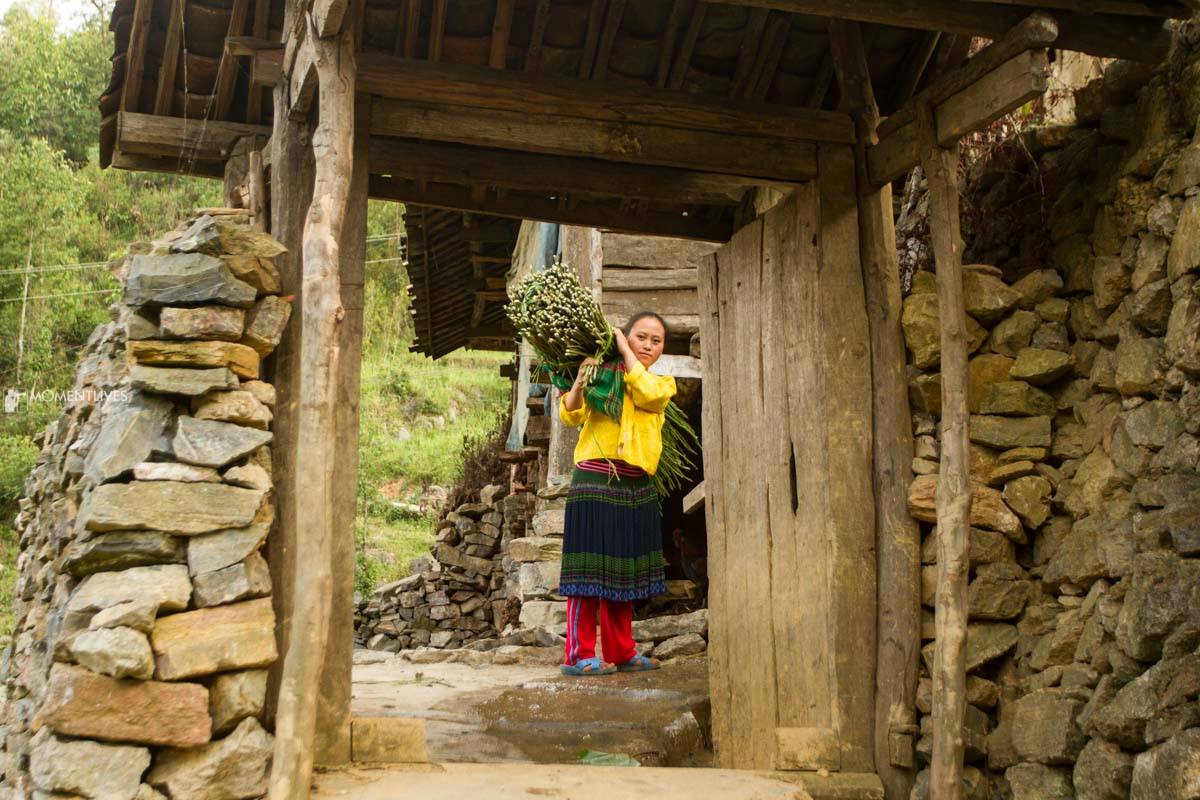Ethnic girl in Ha Giang