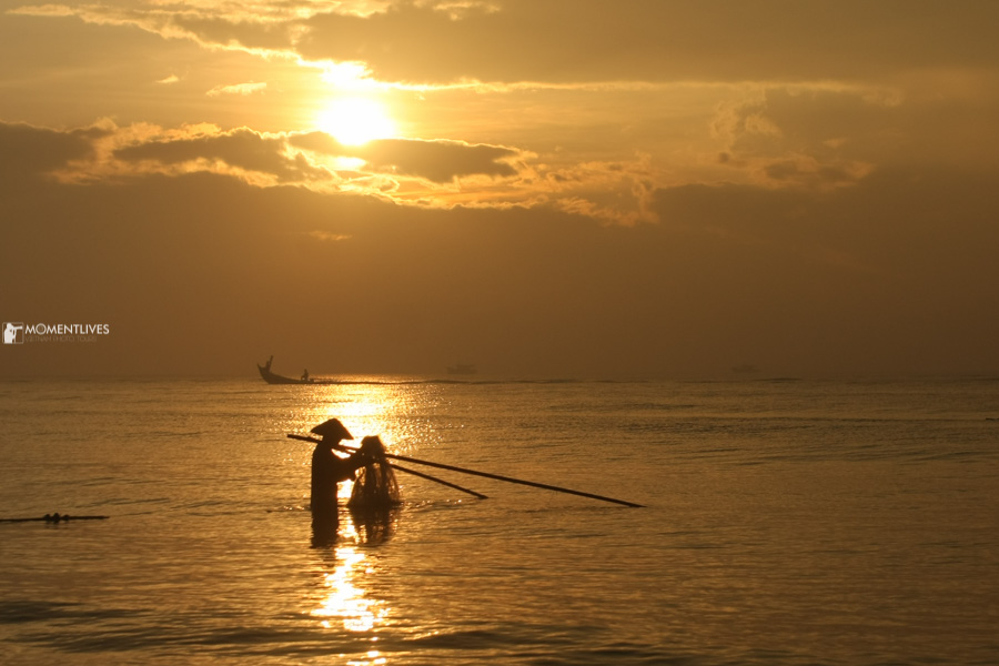 Early fishing in Nam Dinh