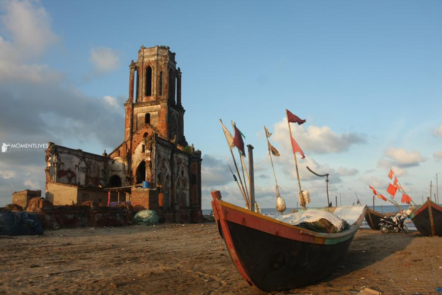 The falling church in Nam Dinh