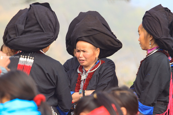 Tribal ladies talking to each other