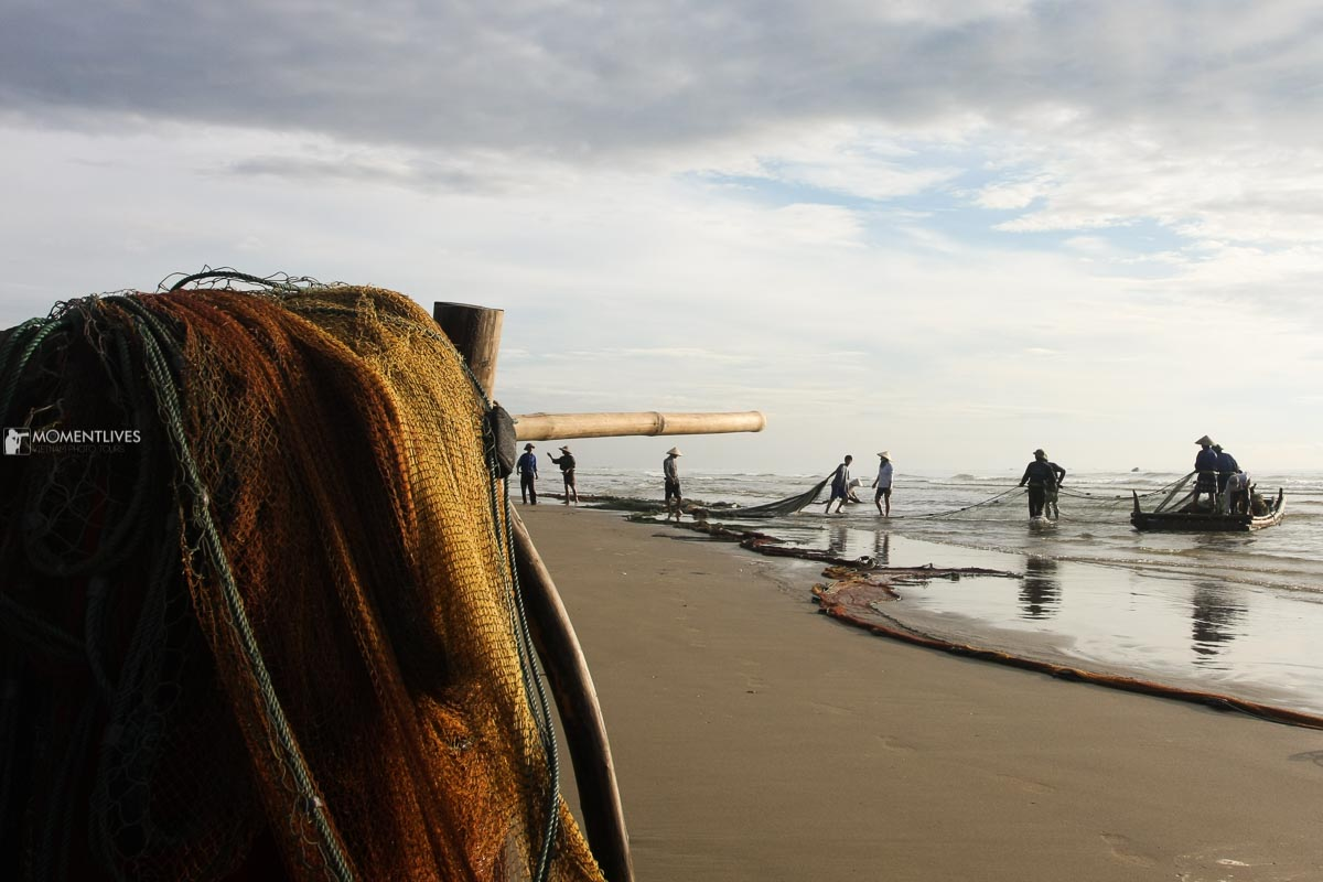 A fishing net that we saw on our Vietnam photo tour