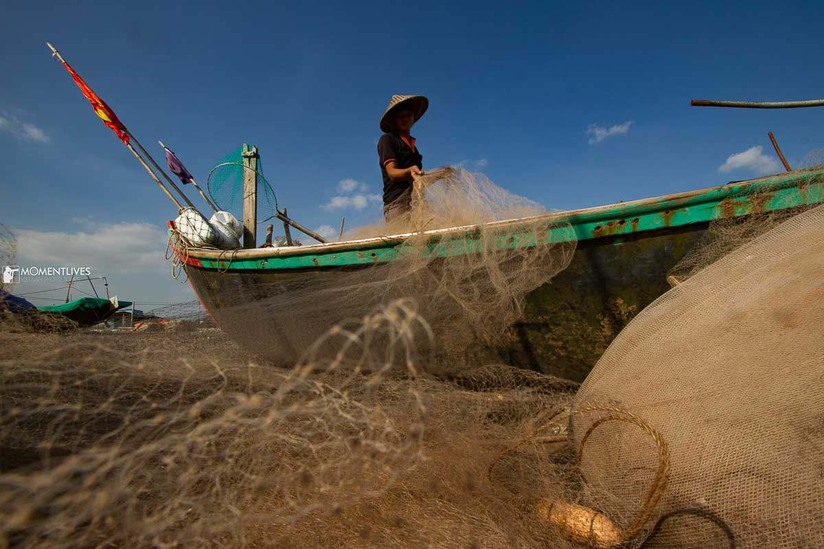 Fisherman folding fixing net