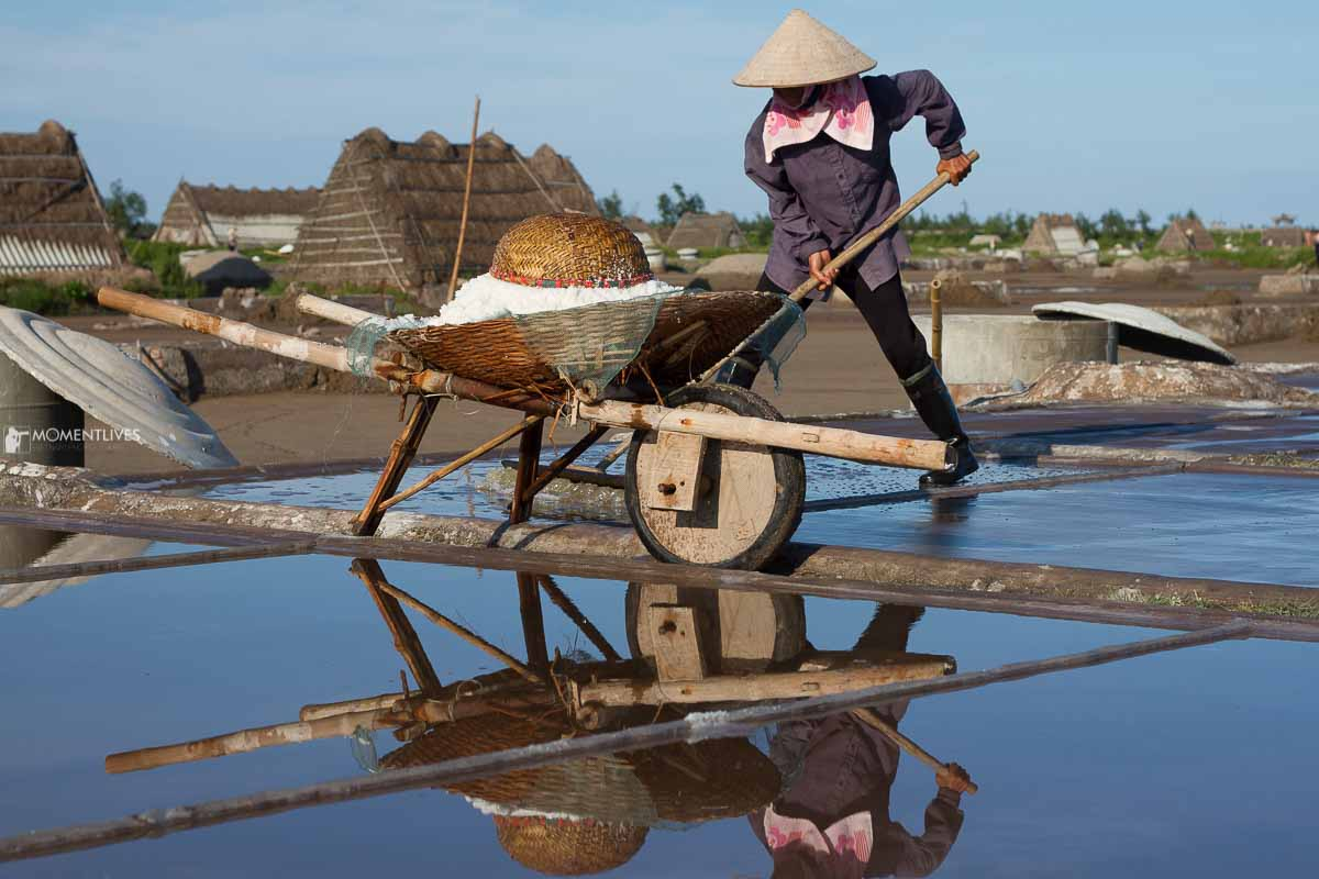 Salt making in Nam Dinh