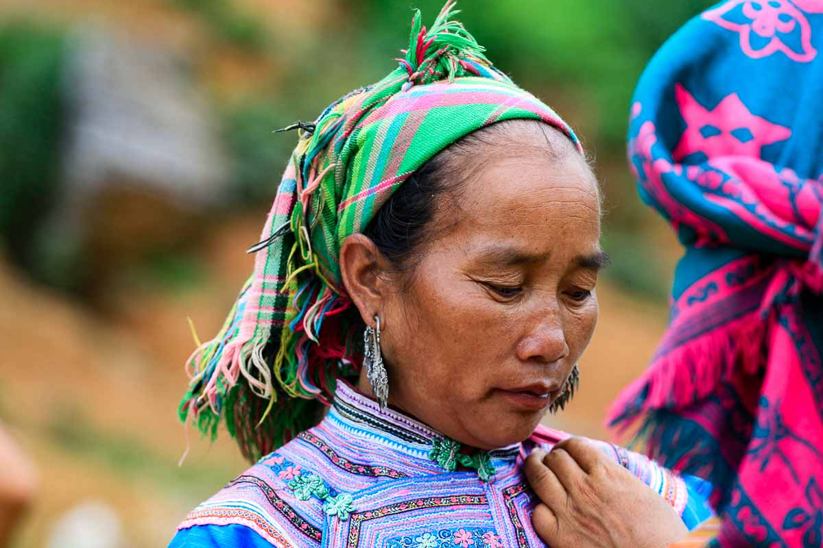 A H'mong lady in Bac Ha market