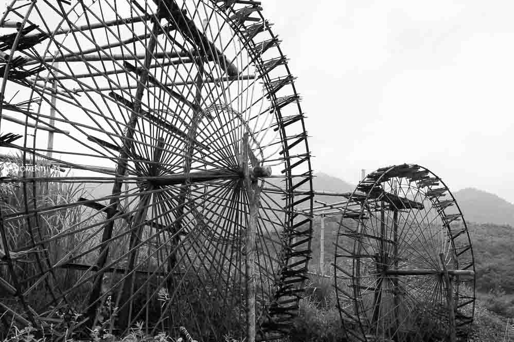Photography travel at water wheel, Pu Luong